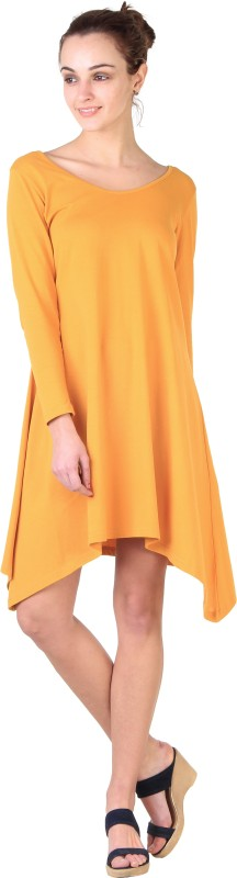 Snapup Women's A-line Yellow Dress