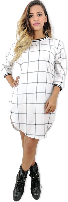 RUDA Women Shift White Dress