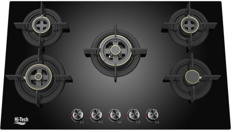 Hi-Tech 5 Burner Automatic Ignition With FFD Hob Glass Automatic Gas Stove(5 Burners)