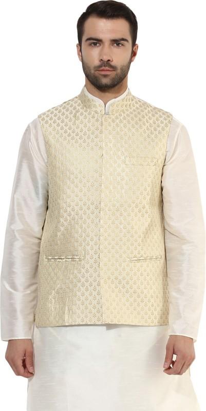 Kisah Sleeveless Self Design Mens Jacket