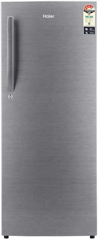 Haier 220 L Direct Cool Single Door 4 Star Refrigerator(Brushline silver, HRD-2204BS-R/E//HRD-2204CBS-R/E)