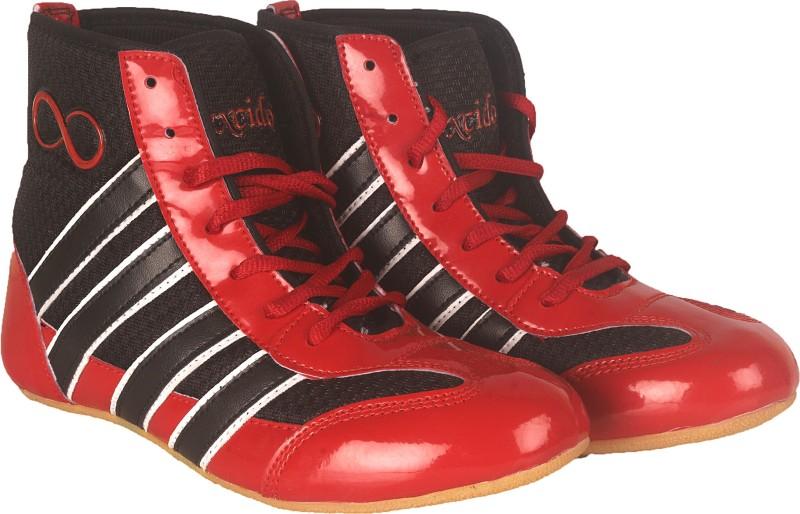 excido ks04redblk Wrestling Shoes For Men(Black, Red)