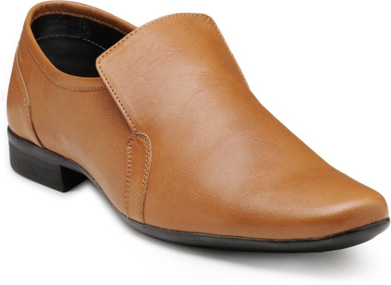 FRANCO LEONE 15040 Slip On For Men(Tan)