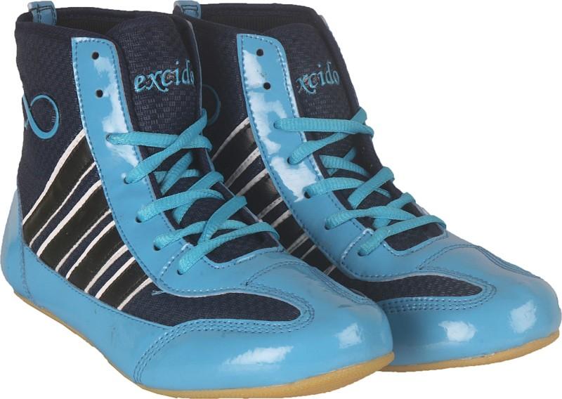 excido ks04blusky Wrestling Shoes For Men(Blue, Black)