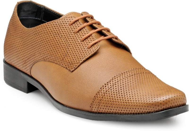 FRANCO LEONE 15042 Lace Up For Men(Tan)