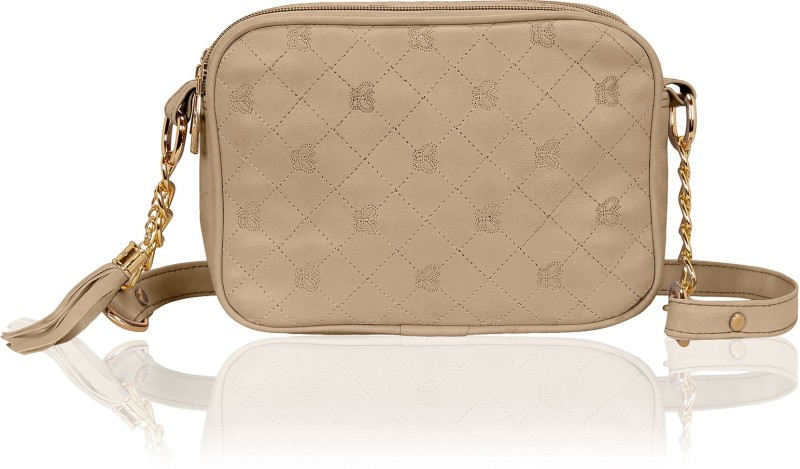 Kleio Women Beige PU Sling Bag