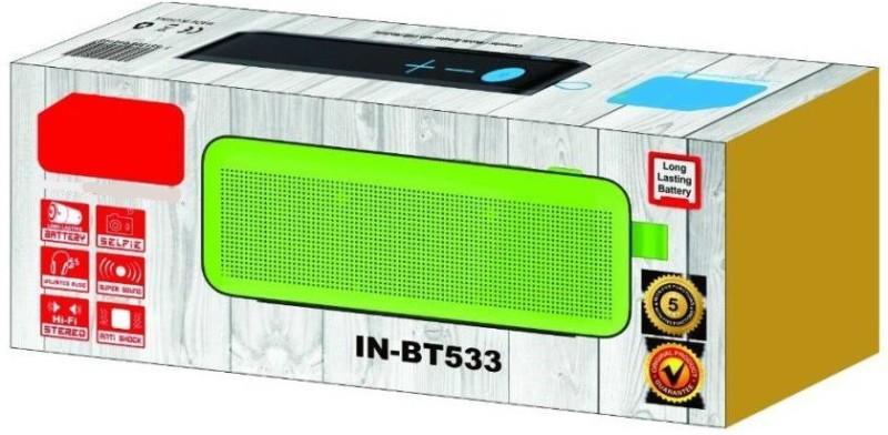VibeX ® Wireless Bluetooth Speaker with Built-in Mic Rechargeable 33-Feet Wireless Range Low Harmonic Distortion 10 W Bluetooth Speaker(Yellow, Mono Channel)