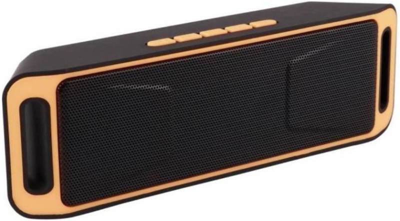 VibeX ® MagicBox Portable Bluetooth V4.0 Speaker, Premium Stereo Wireless Outdoor Speaker with Superior Sound, Acoustic Driver, Ultra Bass Enhancement, Hands-Free Call Bluetooth Speaker(Black, Orange, Mono Channel)