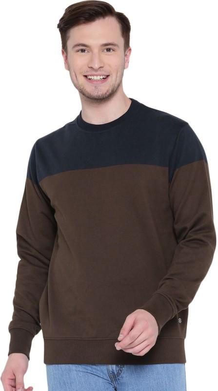 Roadster Full Sleeve Solid Men Sweatshirt