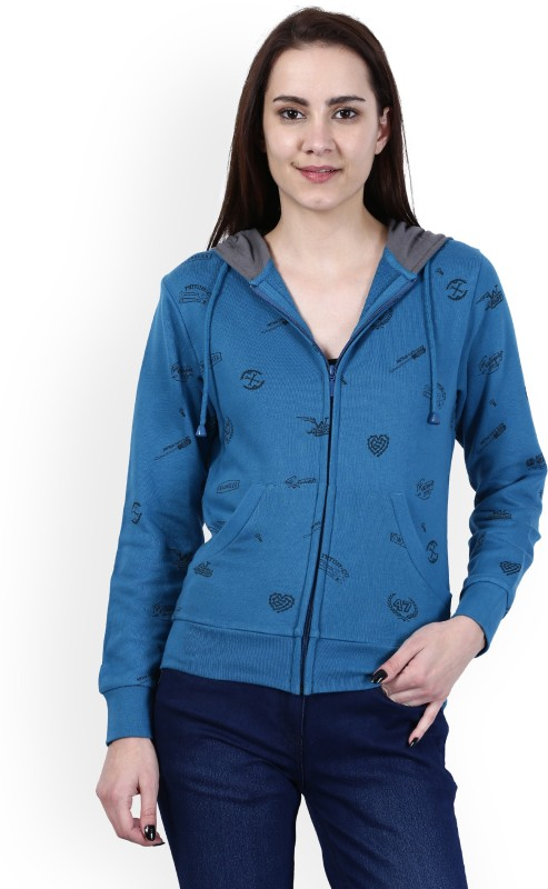 Wrangler Full Sleeve Printed Women Reversible Sweatshirt