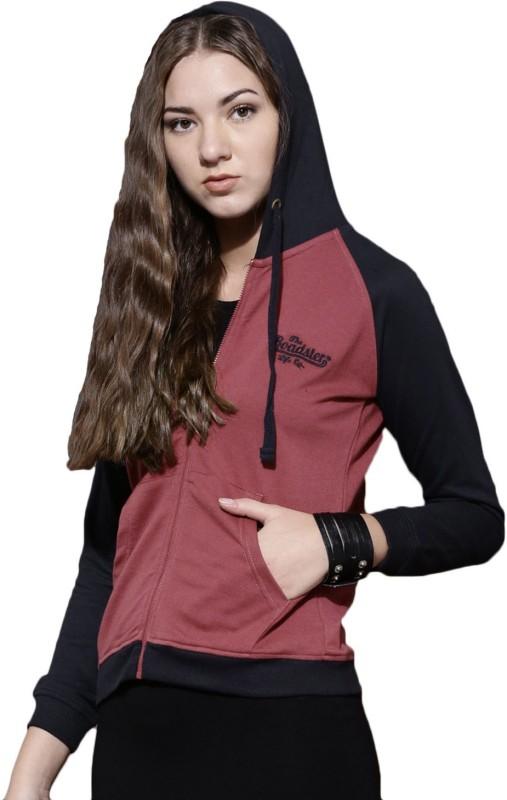 Roadster Full Sleeve Solid Women Sweatshirt