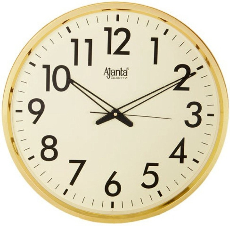 Ajanta Analog Wall Clock(ivory, With Glass)