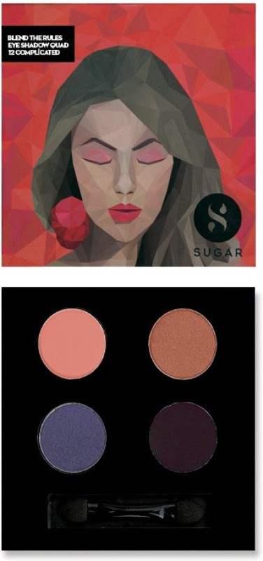 Sugar Cosmetics Blend The Rules Eyeshadow Quad Complicated 5 g(12 Complicated)