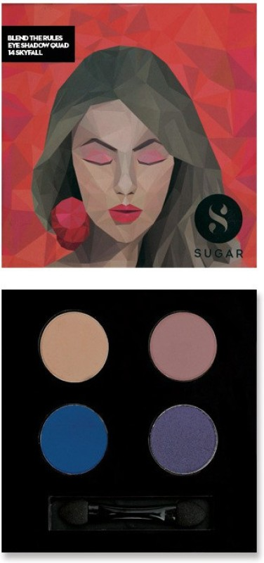 Sugar Cosmetics Blend The Rules Eyeshadow Quad Skyfall 5 g(14 Skyfall)