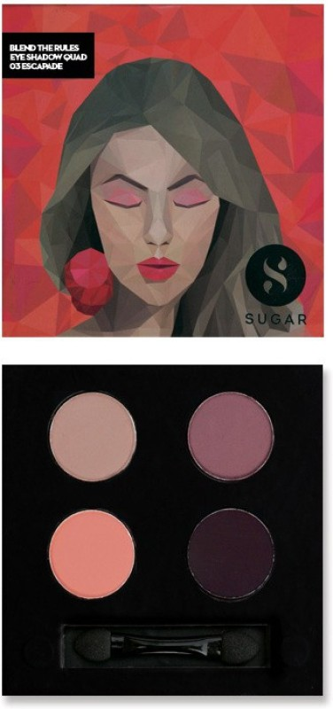 Sugar Cosmetics Blend The Rules Eyeshadow Quad Escapade 5 g(03 Escapade)