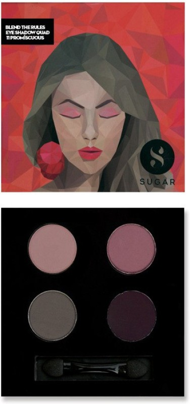 Sugar Cosmetics Blend The Rules Eyeshadow Quad Promiscuous 5 g(11 Promiscuous)