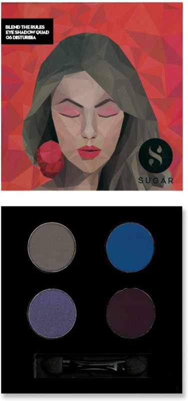 Sugar Cosmetics Blend The Rules Eyeshadow Quad Disturbia 5 g(06 Disturbia)