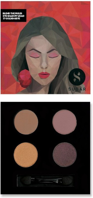 Sugar Cosmetics Blend The Rules Eyeshadow Quad Goldeneye 5 g(17 Goldeneye)