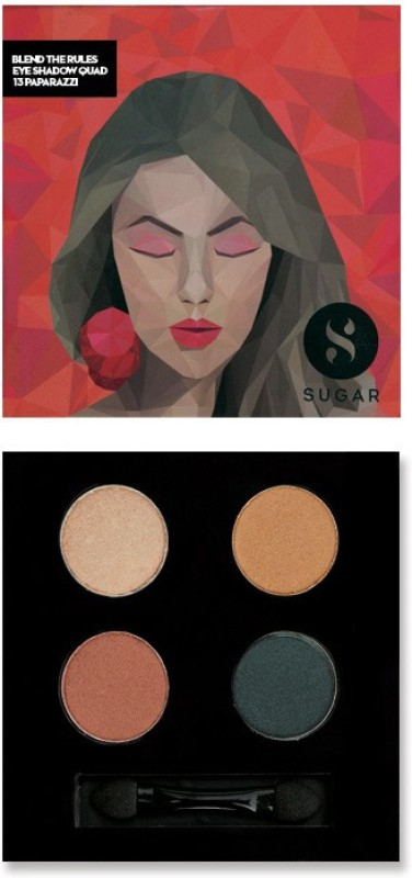 Sugar Cosmetics Blend The Rules Eyeshadow Quad Paparazzi 5 g(13 Paparazzi)