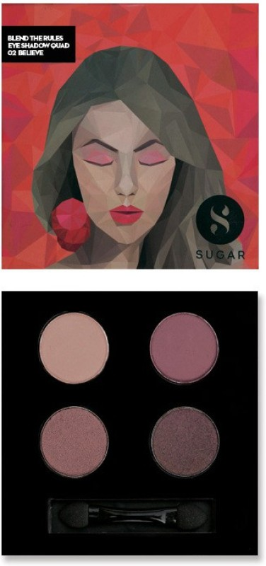 Sugar Cosmetics Blend The Rules Eyeshadow Quad Believe 5 g(02 Believe)