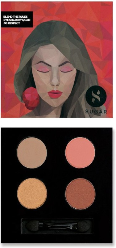 Sugar Cosmetics Blend The Rules Eyeshadow Quad Respect 5 g(08 Respect)