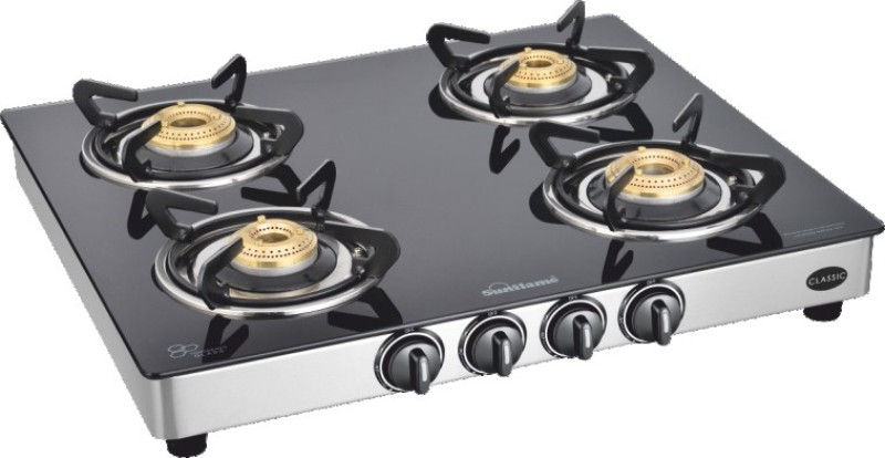 Sun Flame Stainless Steel Manual Gas Stove(4 Burners)