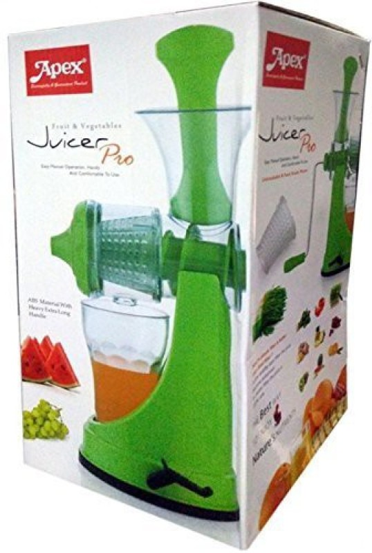 Apex NONE Plastic Hand Juicer(Green Pack of 1)