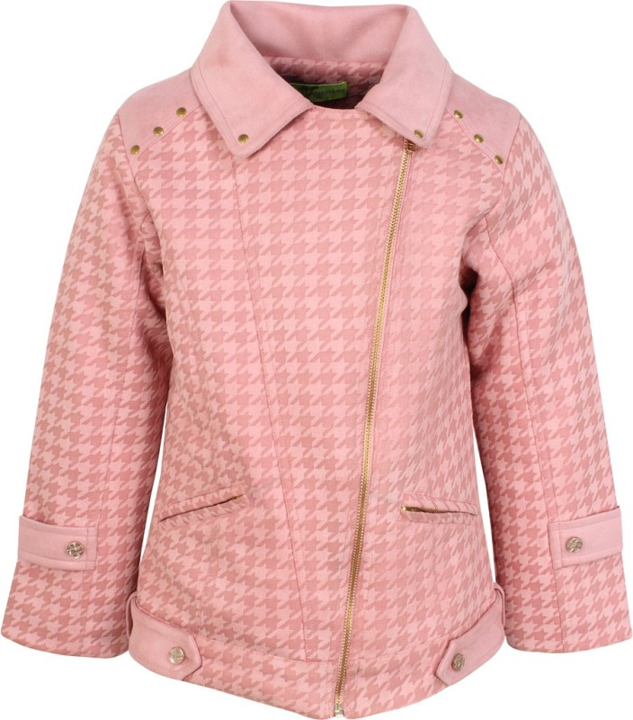 Cutecumber Full Sleeve Houndstooth Girls Jacket