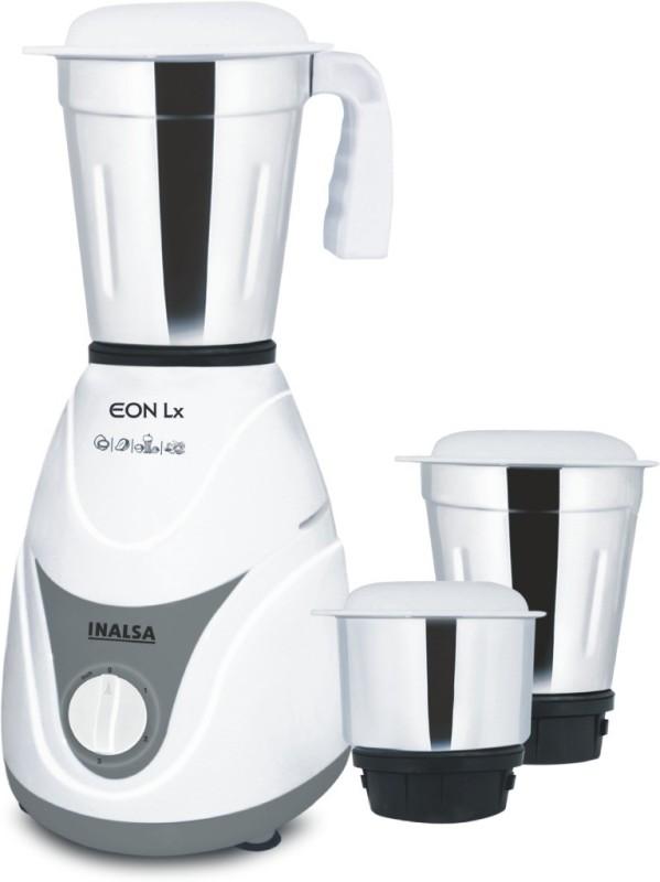 Inalsa EON LX 550 Mixer Grinder(White, 3 Jars)