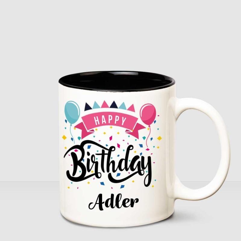 Huppme Happy Birthday Adler Inner Black printed personalized coffee mug Ceramic Mug(350 ml)
