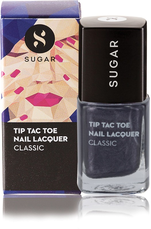 Sugar Cosmetics Tip Tac Toe Nail Lacquer 002 Goodness Gray-cious (Black Grey)