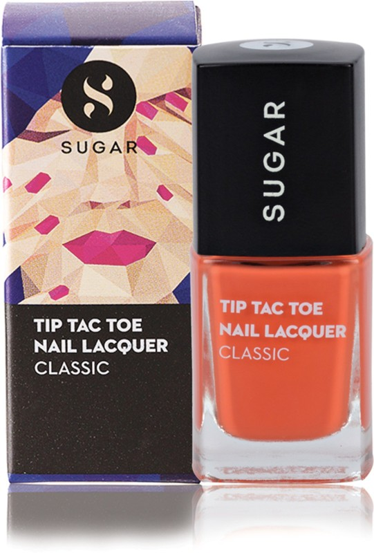 Sugar Cosmetics Tip Tac Toe Nail Lacquer 029 Fuel The Fire (Bright Orange)(10 ml)