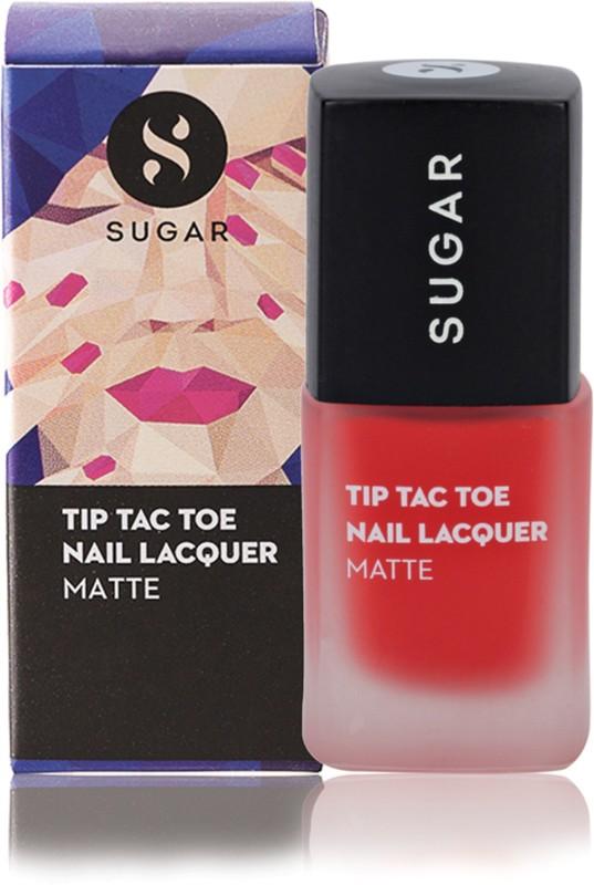 Sugar Cosmetics Tip Tac Toe Nail Lacquer 038 Coraline In The City (Matte Orange Coral)(10 ml)