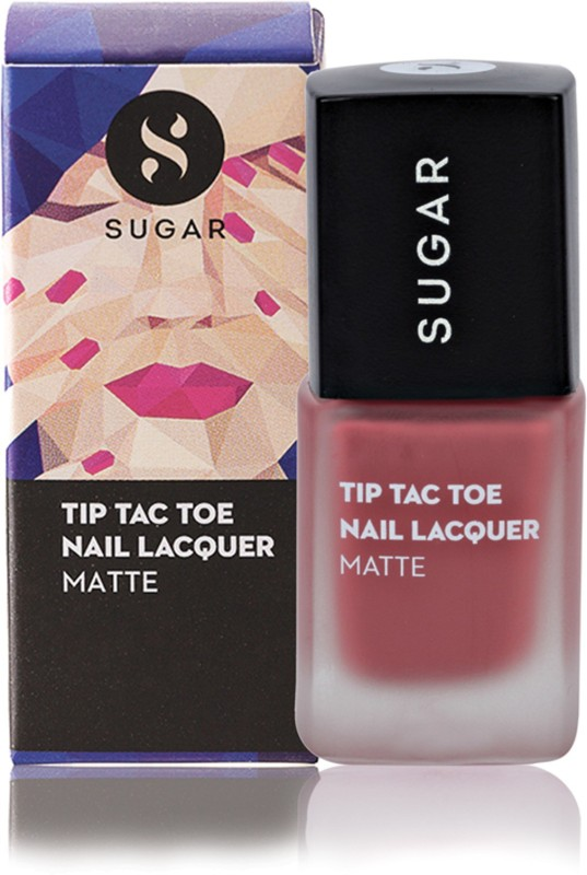 Sugar Cosmetics Tip Tac Toe Nail Lacquer 036 Holly Golightly (Matte Nude)(10 ml)