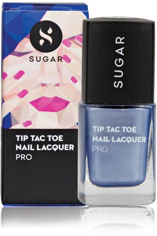 Sugar Cosmetics Tip Tac Toe Nail Lacquer 044 Sapphire Straits (Metallic Blue)(10 ml)