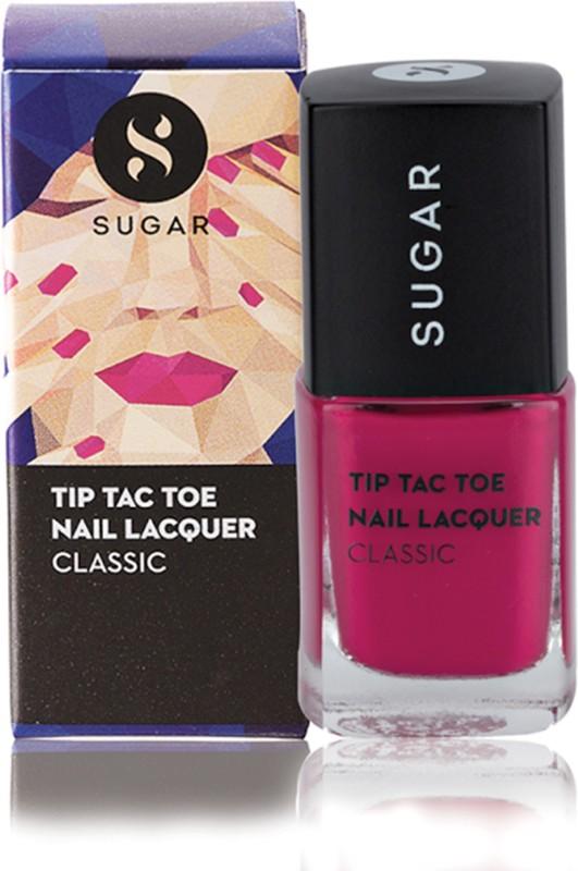Sugar Cosmetics Tip Tac Toe Nail Lacquer 012 Pink Positive (Pink)(10 ml)