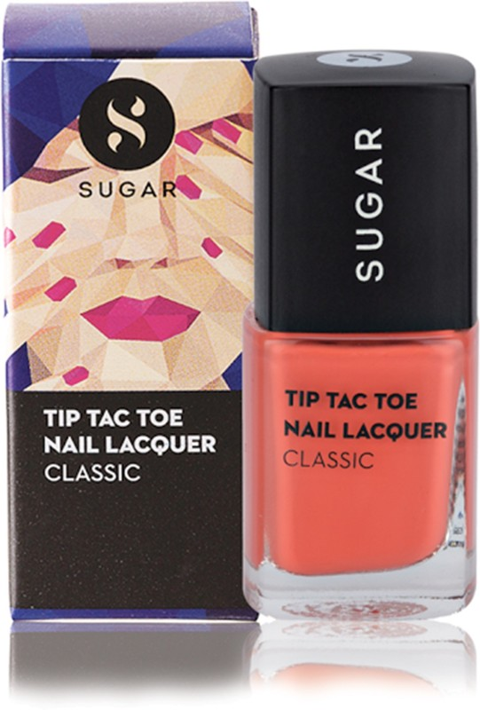 Sugar Tip Tac Toe Nail Lacquer 016 Coral Compass Light Coral