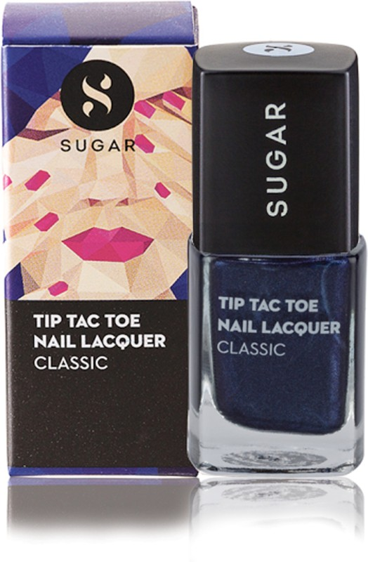 Sugar Cosmetics Tip Tac Toe Nail Lacquer 005 Blue-Blooded (Sapphire Blue)