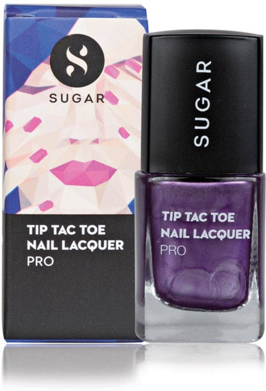 Sugar Cosmetics Tip Tac Toe Nail Lacquer 041 Amethyst Actress (Metallic Purple)(10 ml)