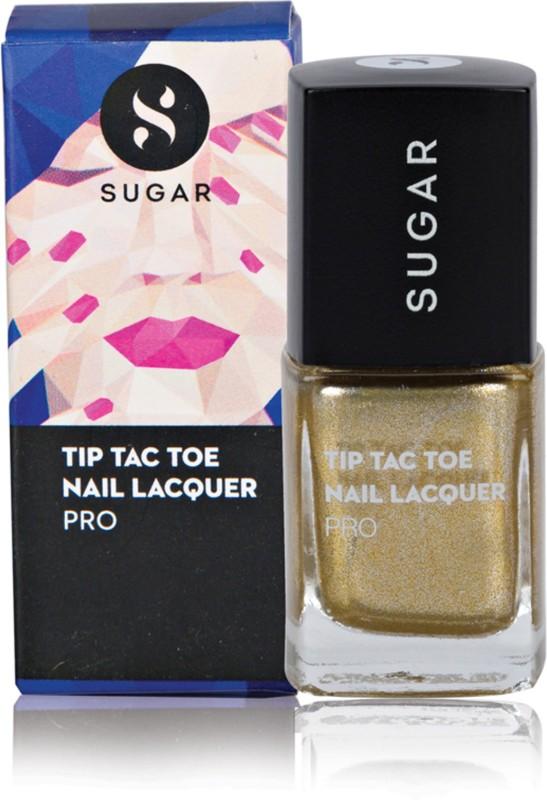 Sugar Cosmetics Tip Tac Toe Nail Lacquer 021 Good As Gold (Metallic Gold)(10 ml)