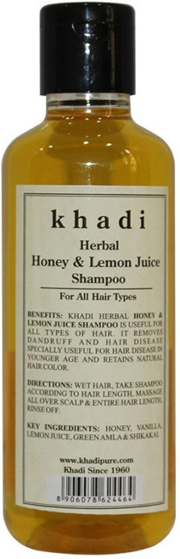 Khadi Herbal Honey & Lemon Juice Shampoo(210 ml)