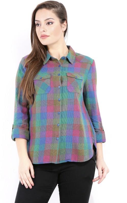 Vero Moda Women's Checkered Casual Multicolor Shirt