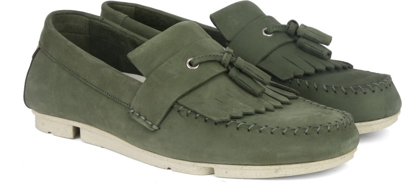 Clarks Trimocc Free Olive Nubuck Mucassin For Men(Green)