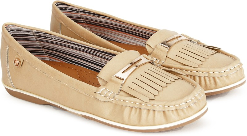 Carlton London CLL-3618 Loafers For Women(Beige)