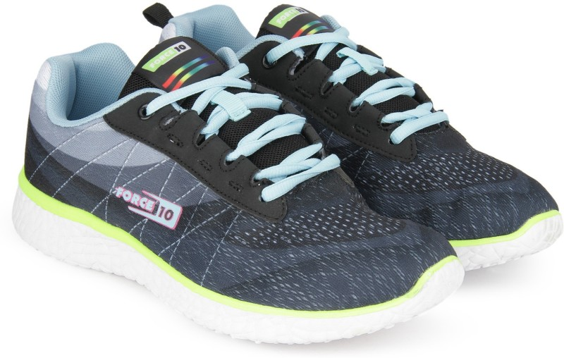 Force 10 Running Shoes For Women(Black, Grey)