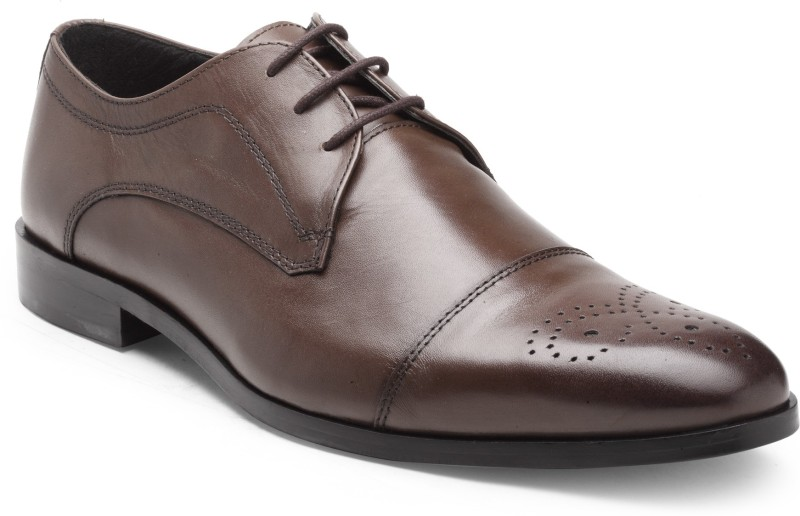 Hats Off Accessories Hats Off Accessories Basic Leather Brogue Brogues For Men(Brown)