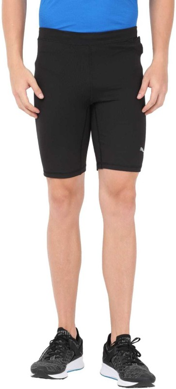 Puma Solid Men Black Sports Shorts