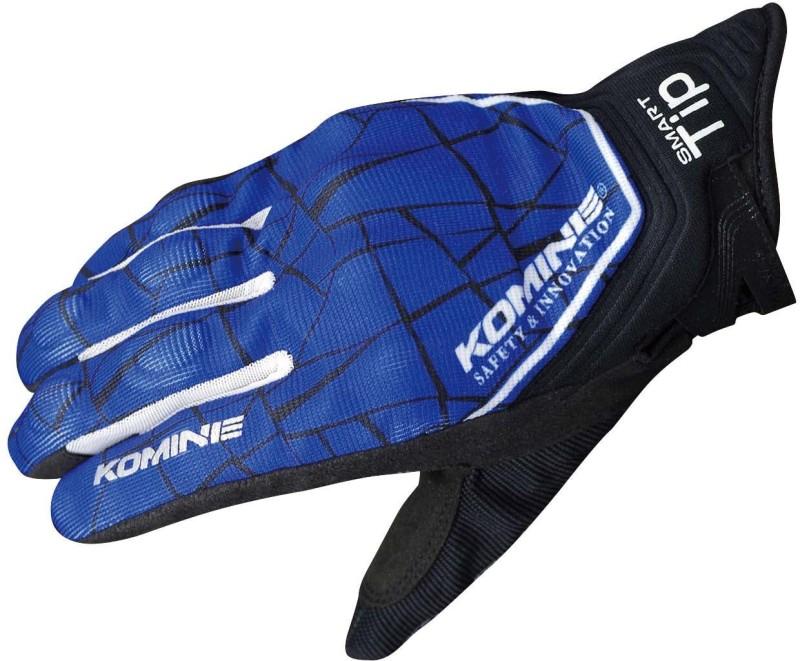 KOMINE GK-191_BLUE_BLACK Riding Gloves (L, Blue)