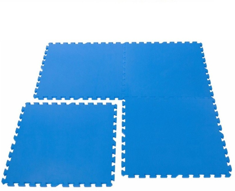 Iris Interlocking 2 ft. X 2 ft. (4 pieces) Blue 10 mm Exercise & Gym Mat