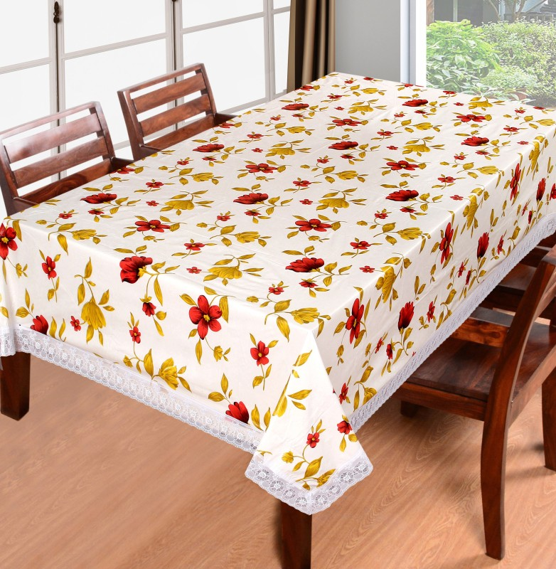 Home Candy Floral 6 Seater Table Cover(Multicolor, Polyester)